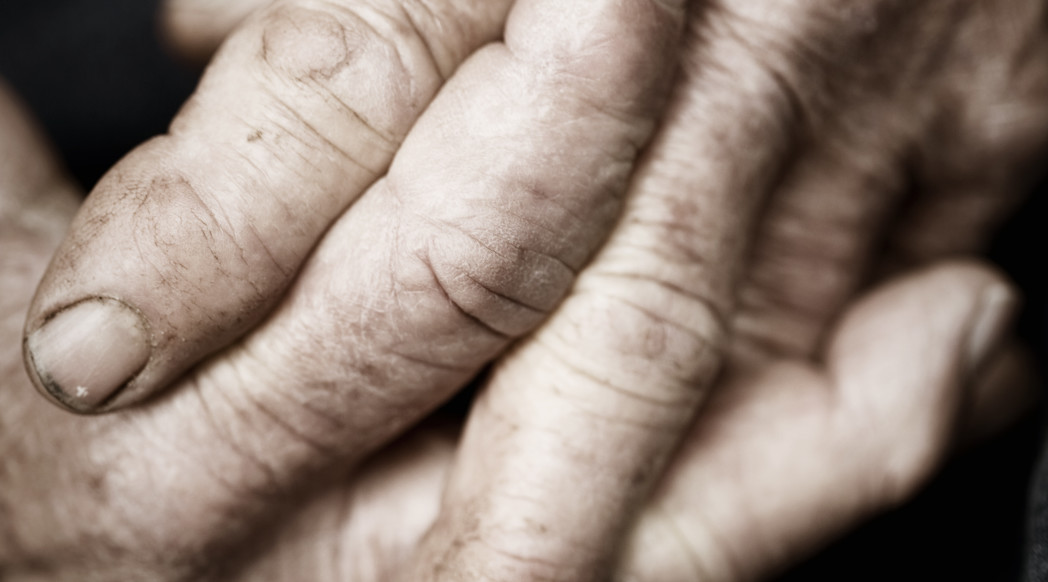 Elderly Hands by Lisa Edmonds
